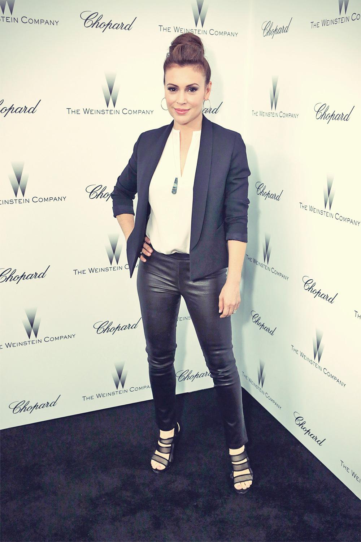 Alyssa Milano 2013 Weinstein Company & Chopard Pre-Oscar Party