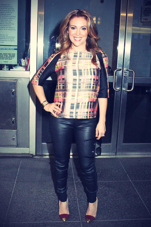 Alyssa Milano leaves Fox & Friends studios
