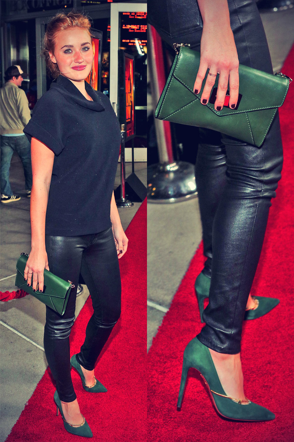 Amanda AJ Michalka attends How I Live Now Hollywood Premiere