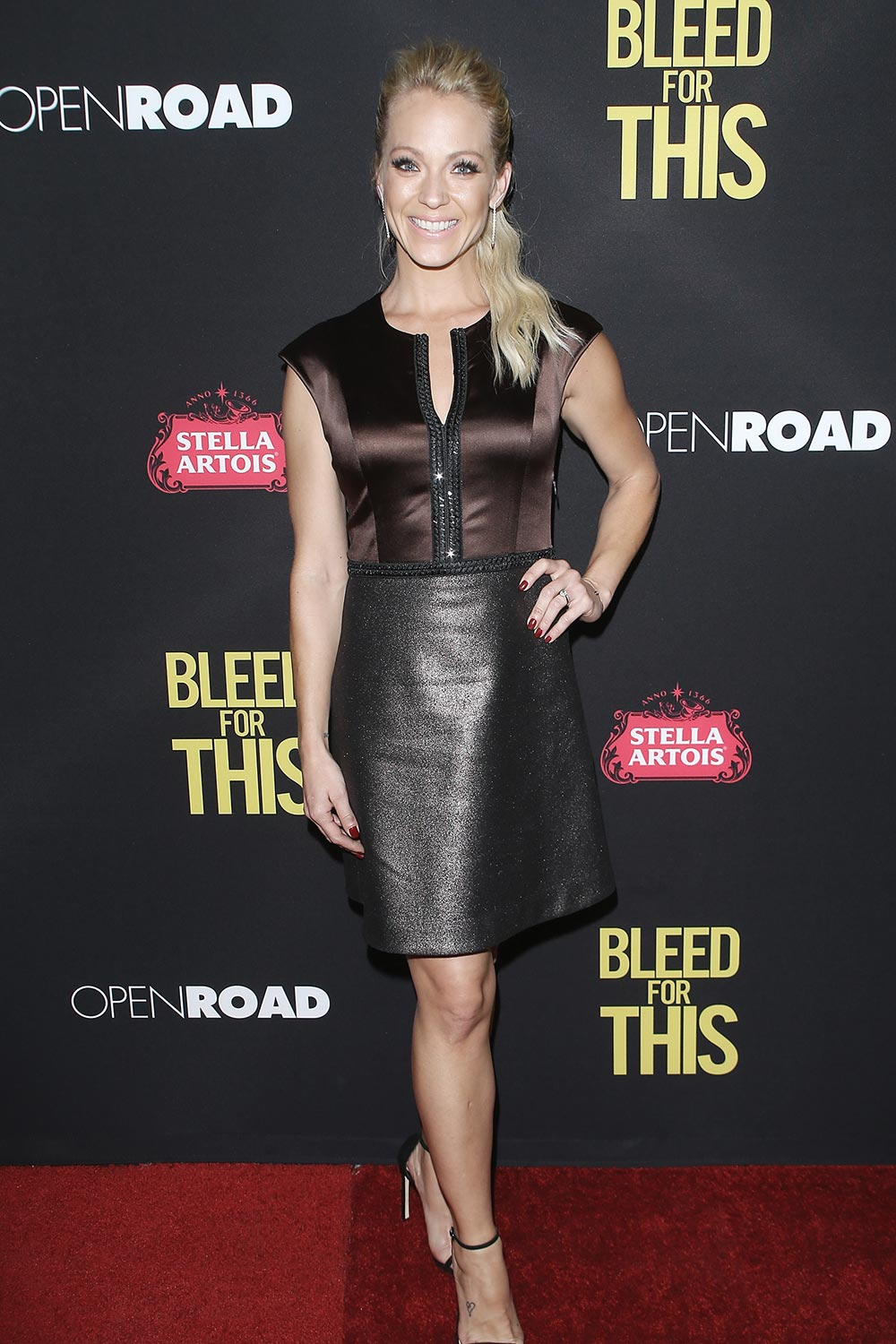 Amanda Clayton attends the premiere of Open Road Films Bleed For This