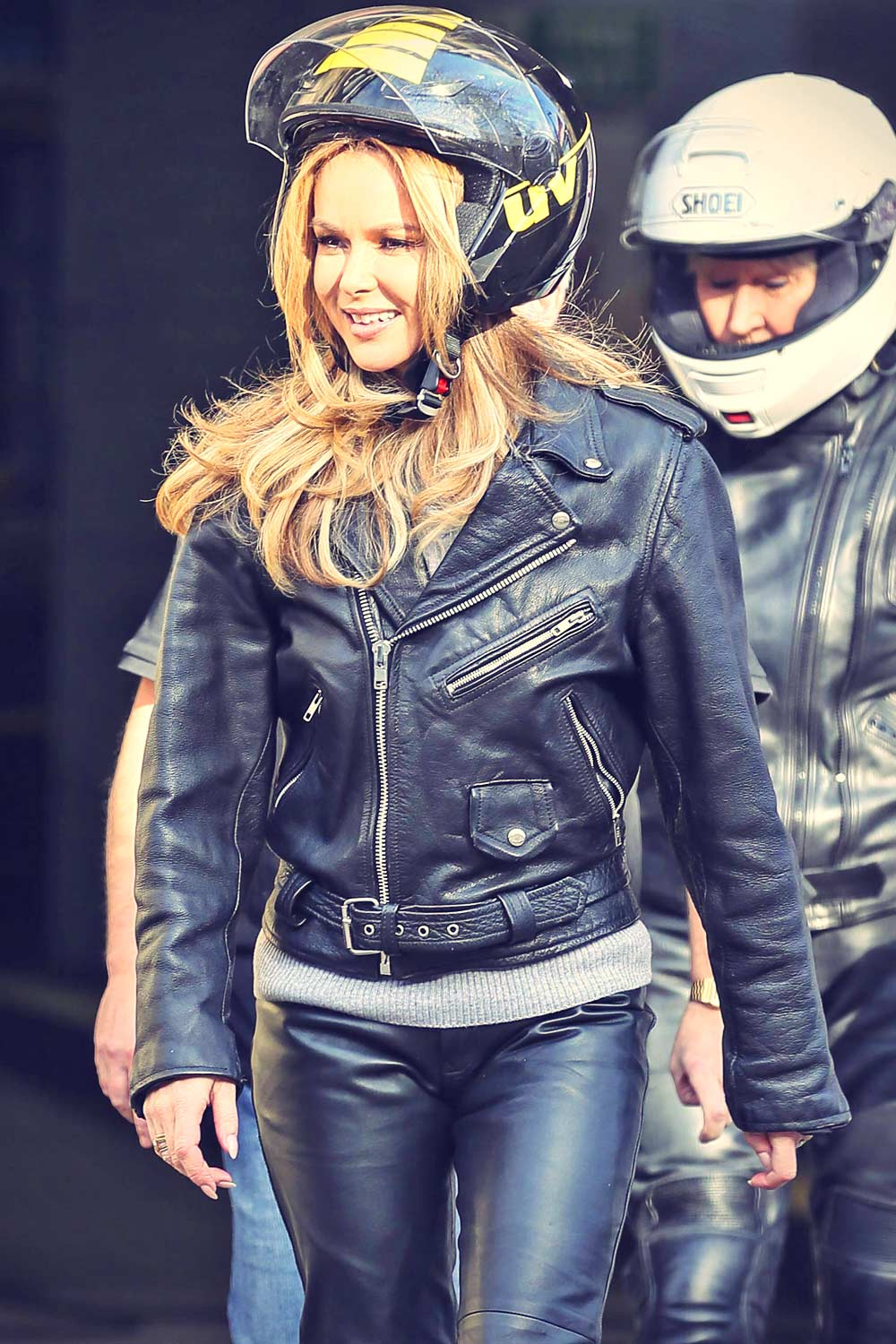 Amanda Holden Seen Arriving At The Itv Studios Leather