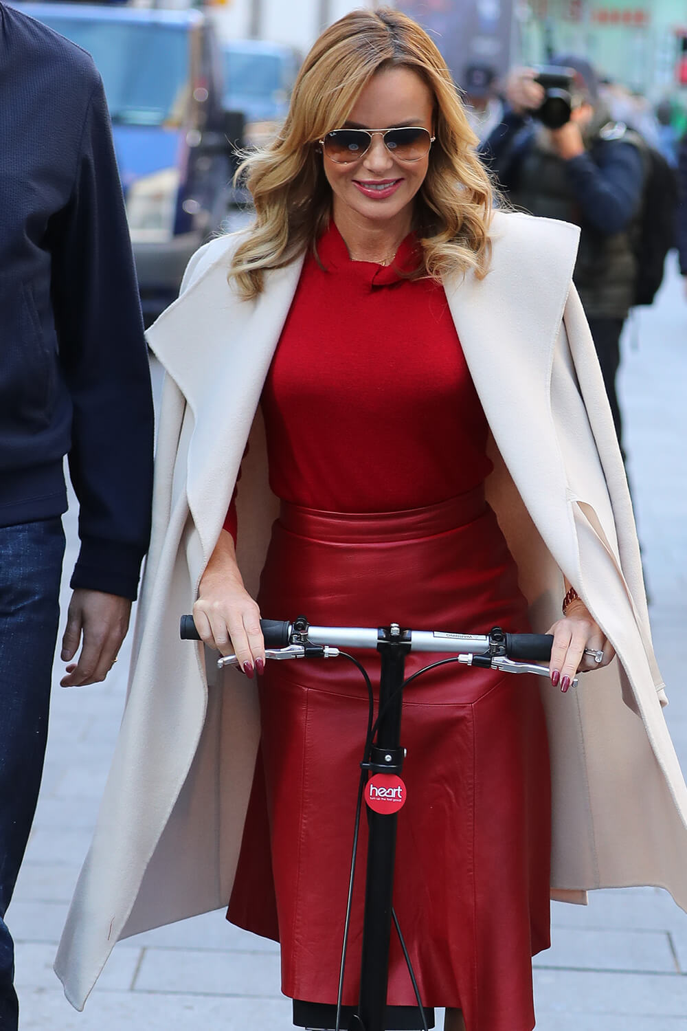 Amanda Holden seen at Heart Radio