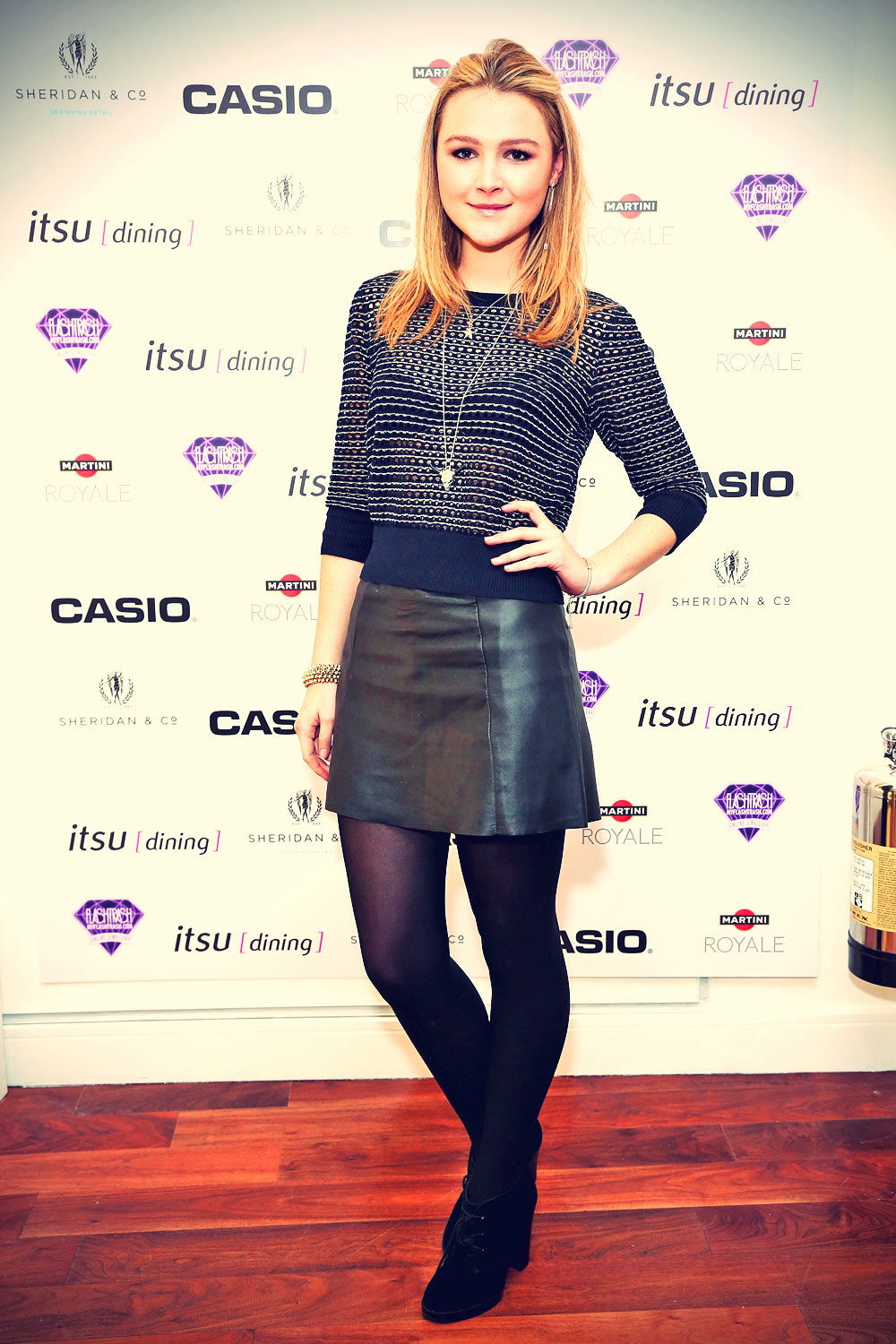 Amber Atherton Casio Watch launch party