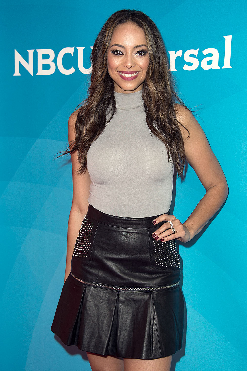 Amber Stevens West attends the 2017 NBCUniversal Summer Press Day