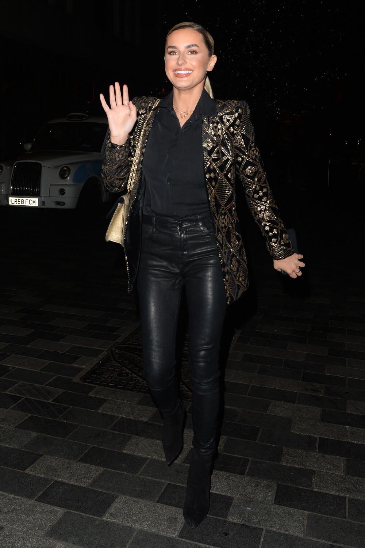 Amber Davies at Press Night for Pretty Woman