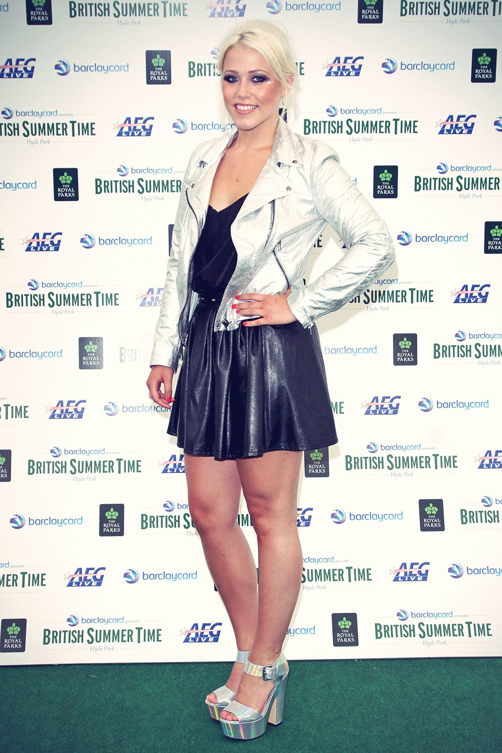 Amelia Lily backstage at British Summer Time Festival