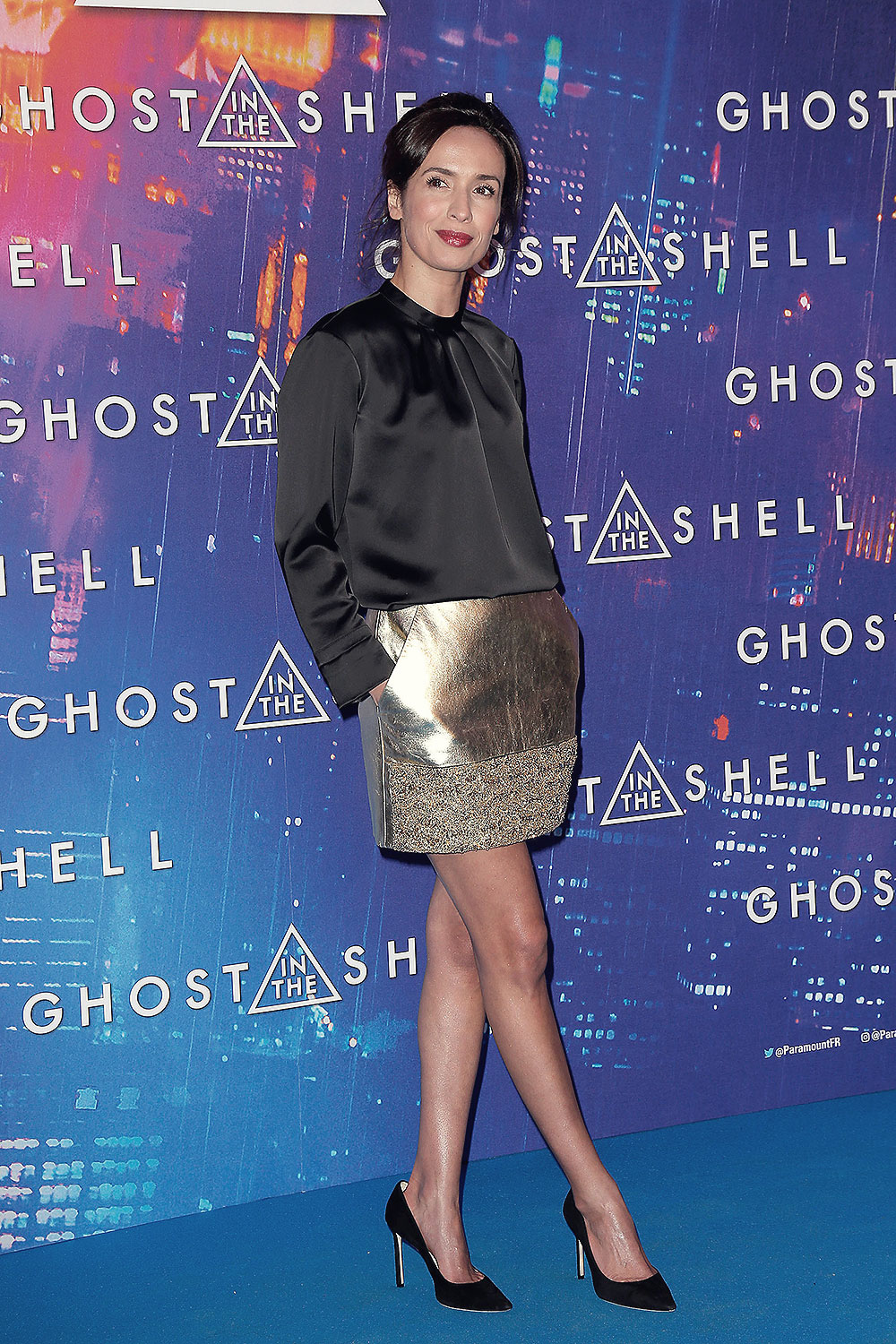 Amelle Chahbi attends Ghost in the Shell Premiere