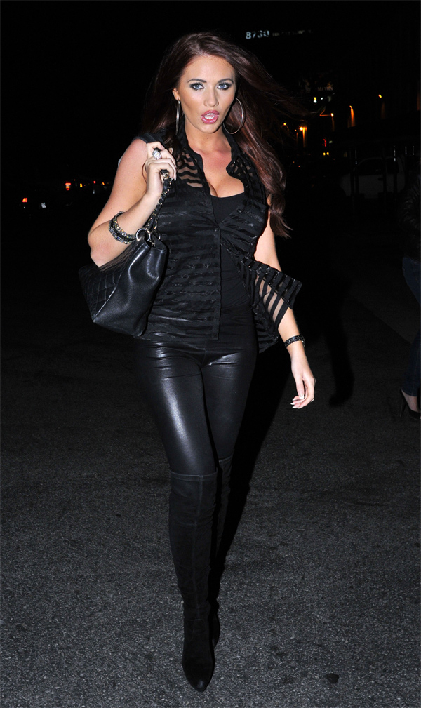 Amy Childs goes for dinner at Chinchin Restaurant in LA