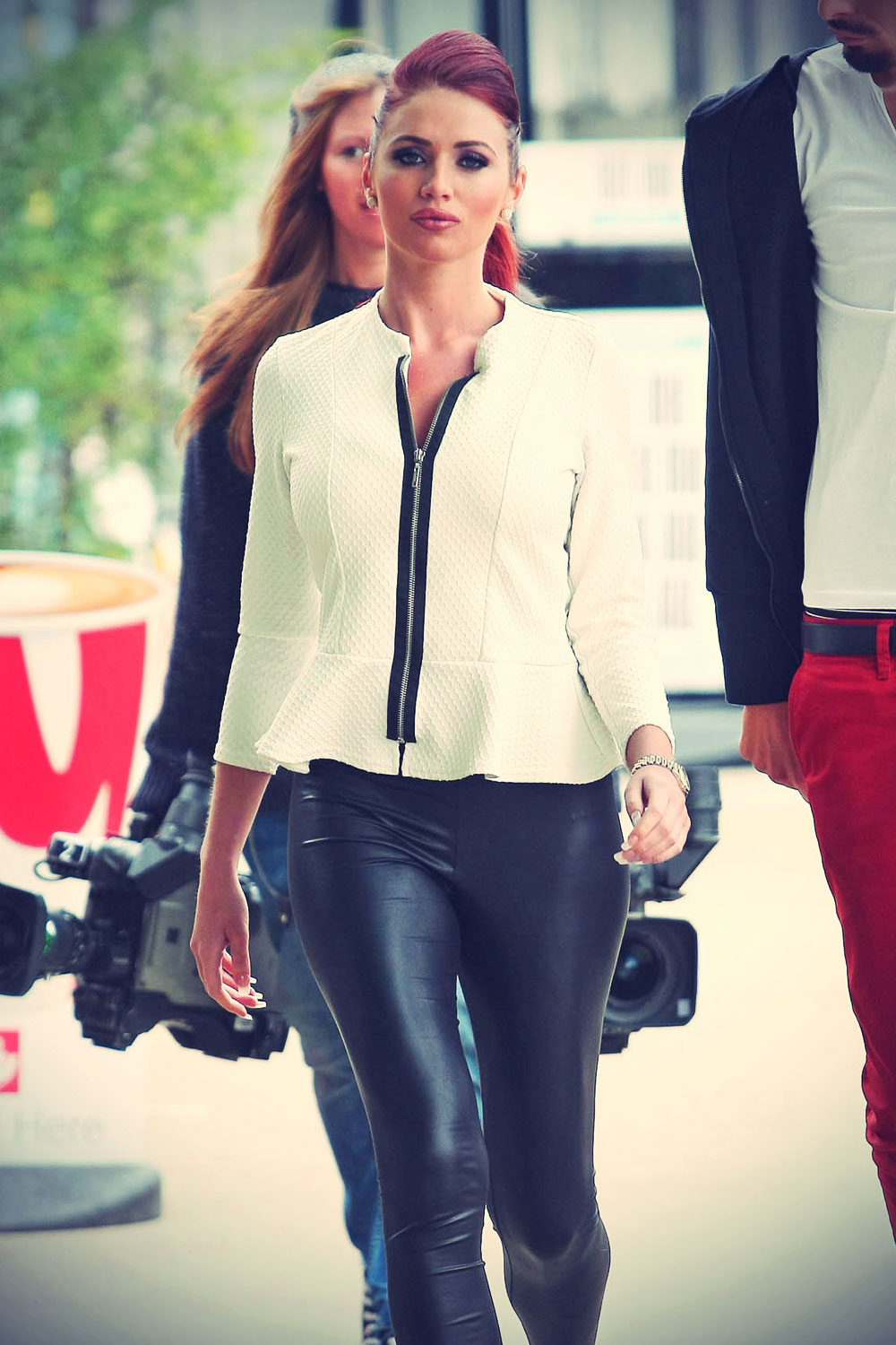 Amy Childs outside the ITV studios