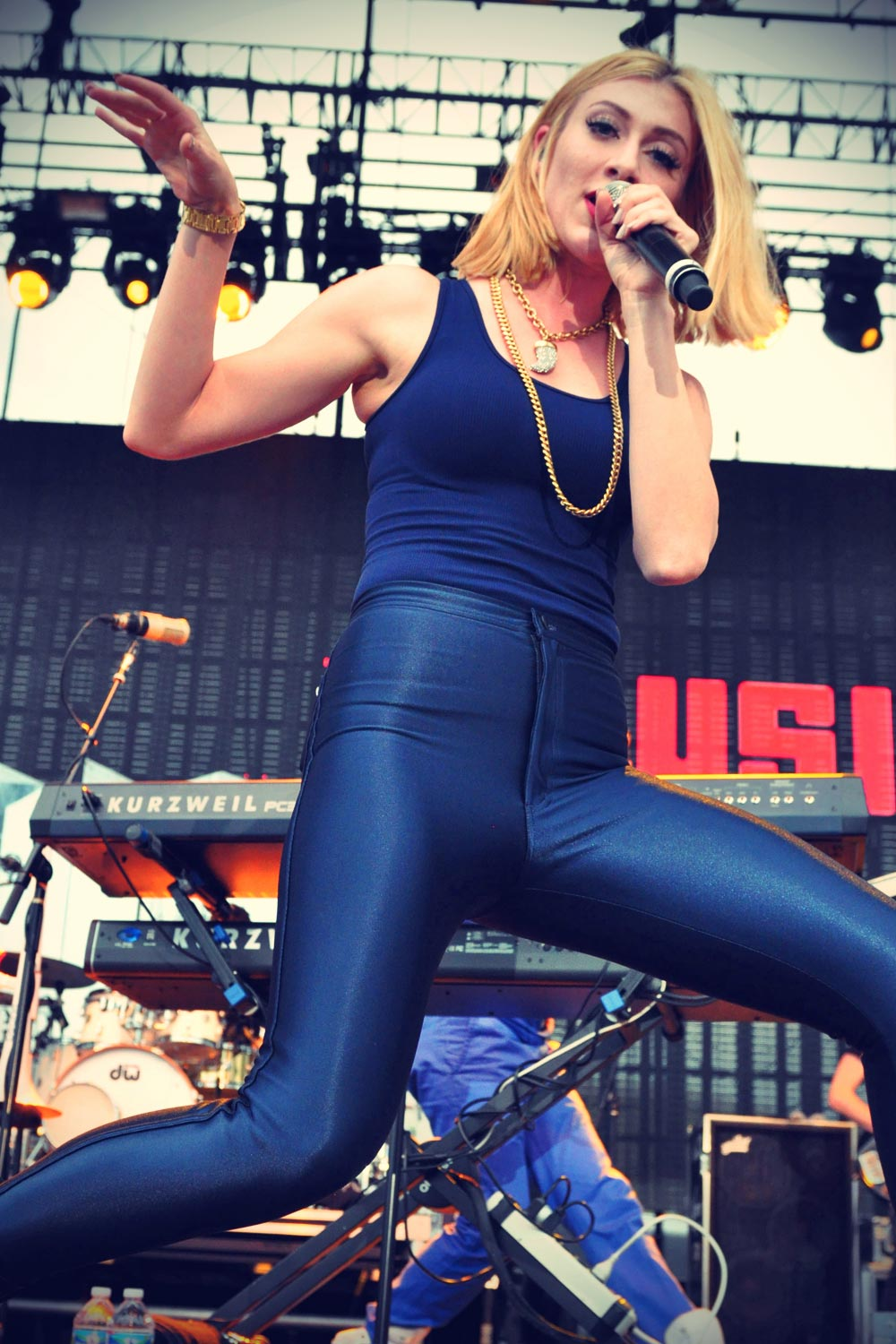 Amy Heidemann on stage during the Karmin Summer Tour concert