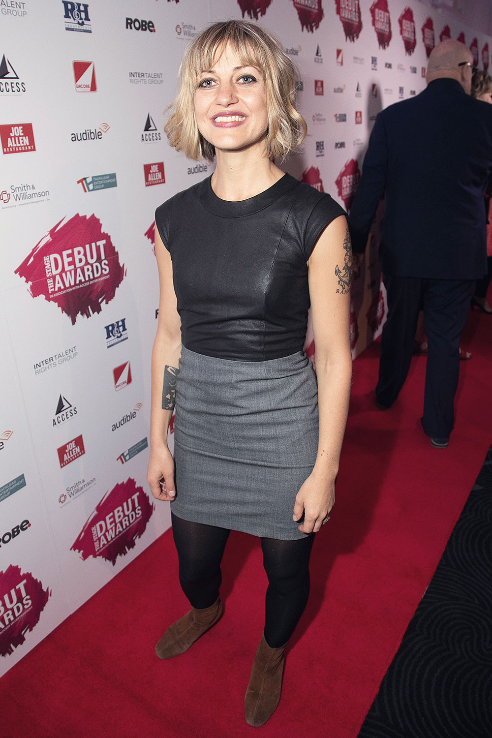 Anais Mitchell attends The Stage Debut Awards 2018 arrivals