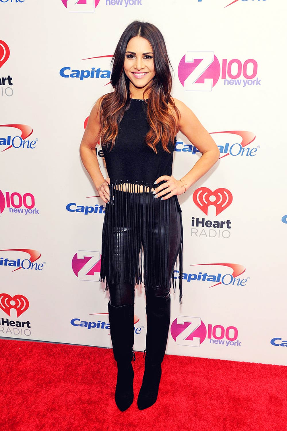 Andi Dorfman attends Z100's Jingle Ball 2015
