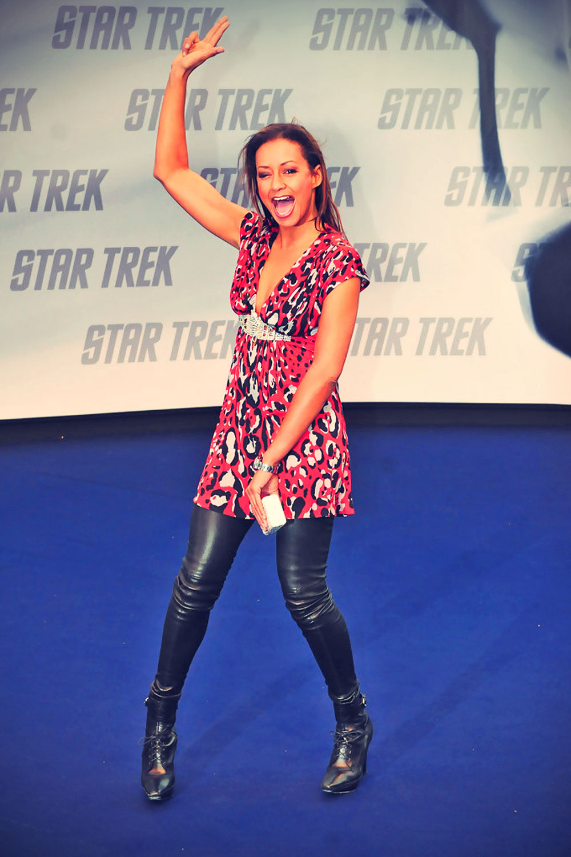 Andrea Kempter attends the Star Trek Germany premiere