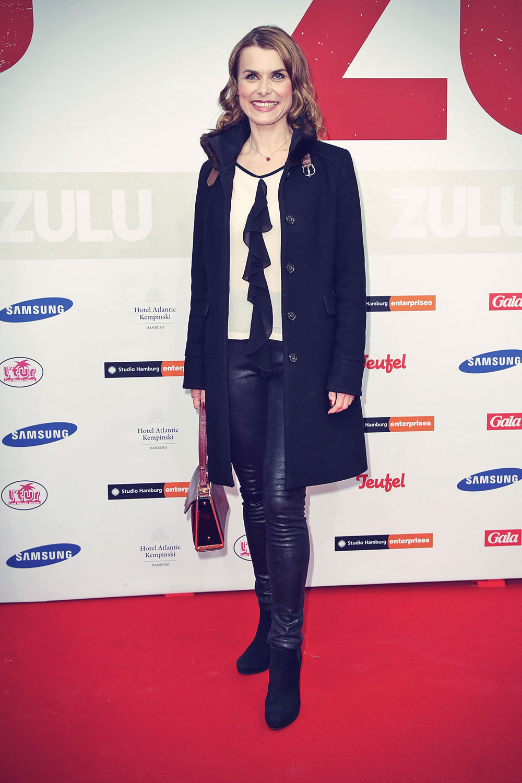 Andrea Luetke attends the German premiere of the film Zulu