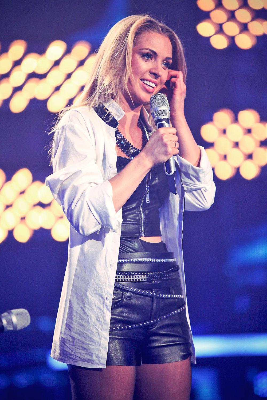 Aneta Sablik performs during the rehearsal of the 3rd Deutschland sucht den Superstar