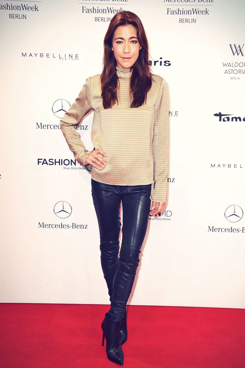 Angela Gessmann attends Mercedes-Benz Fashion Week #2