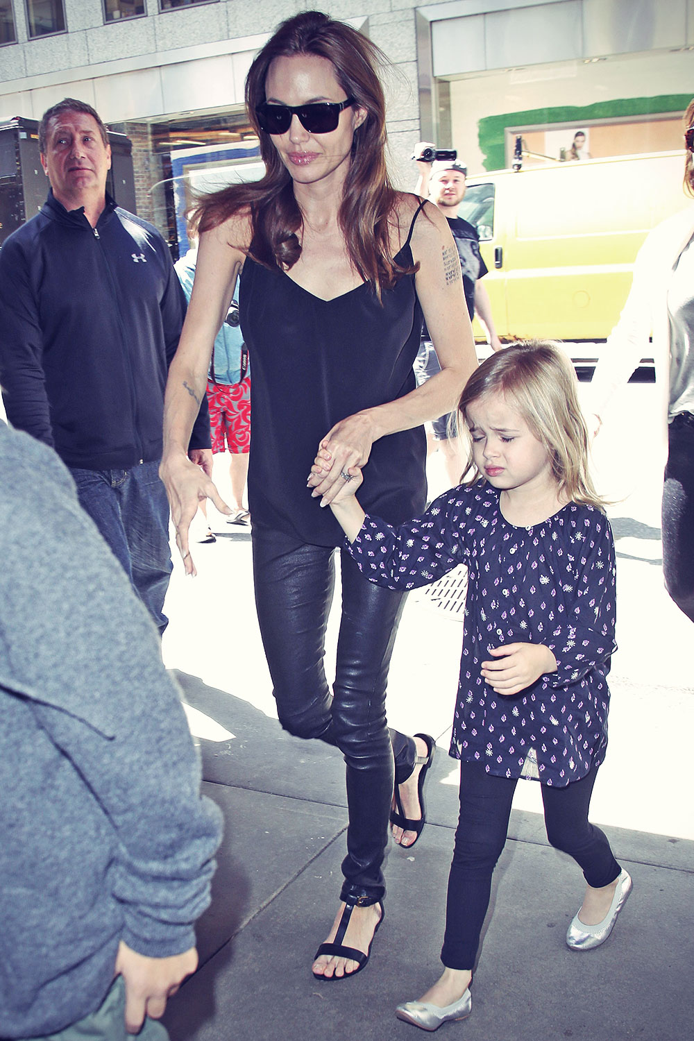 Angelina Jolie and her children at FAO Schwarz toy store