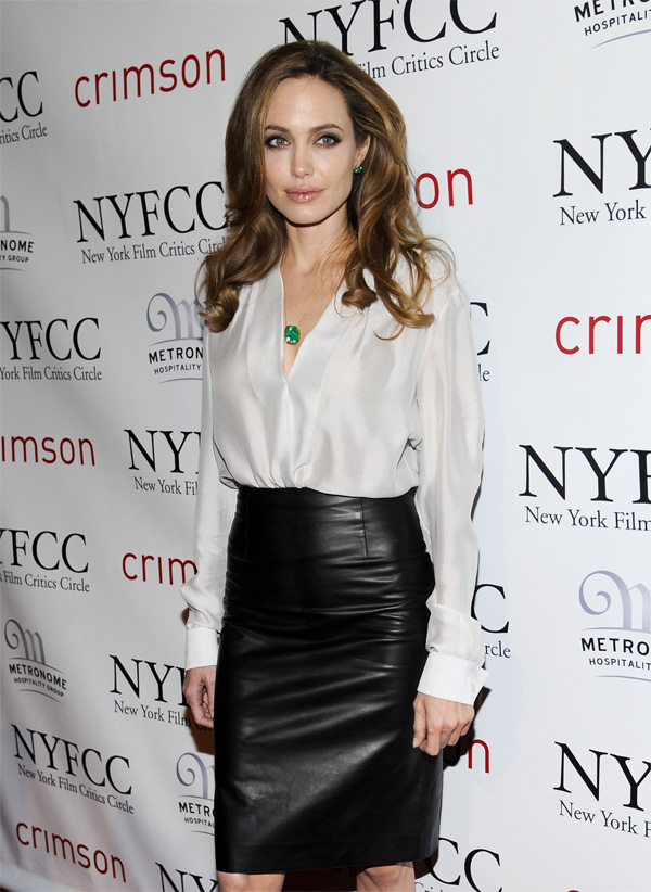 Angelina Jolie at New York Film Critics Circle Awards