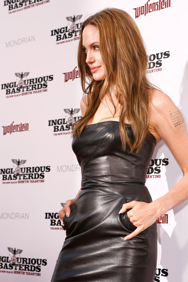 Angelina Jolie at Inglorious Basterds Premiere in Hollywood