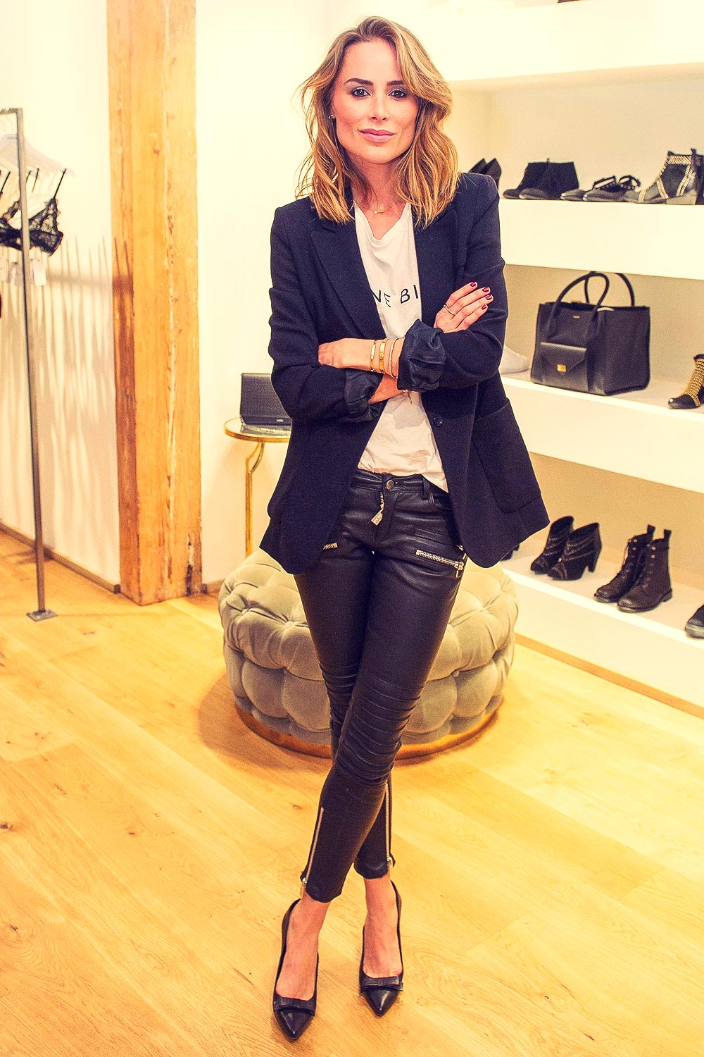 Anine Bing attends Anine Bing Madrid Clothing Boutique Photocall