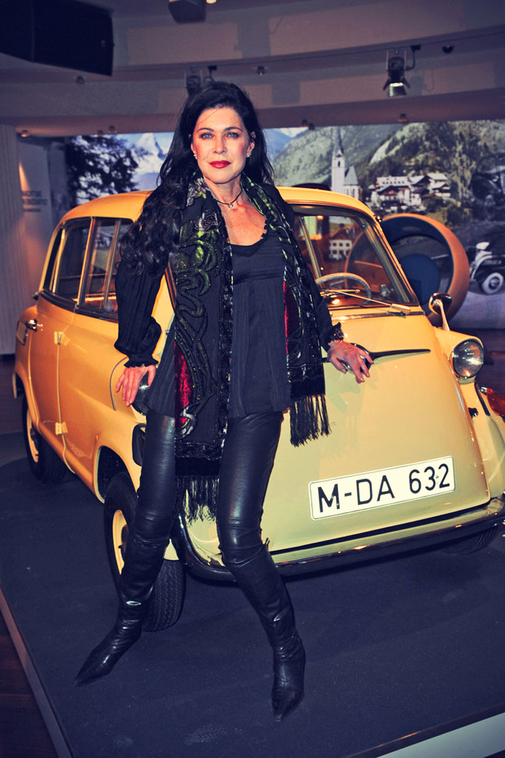 Anja Kruse at the BMW Kalender opening in Munich