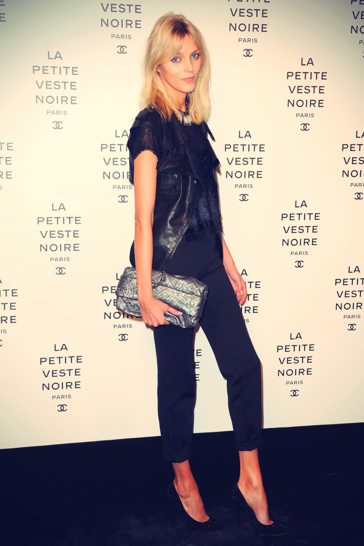 Anja Rubik at La Petite Veste Noire Book Launch