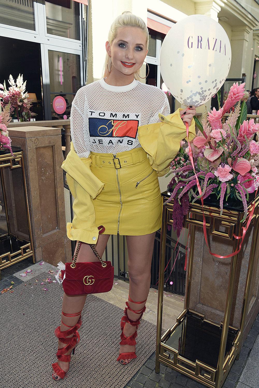 Anna Hiltrop attend Grazia Pink Hour