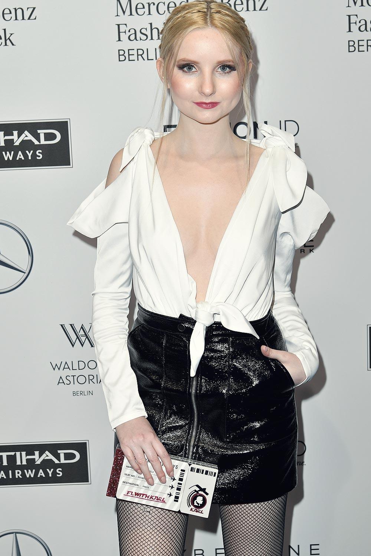 Anna Hiltrop attends the Mercedes-Benz Fashion Week Berlin