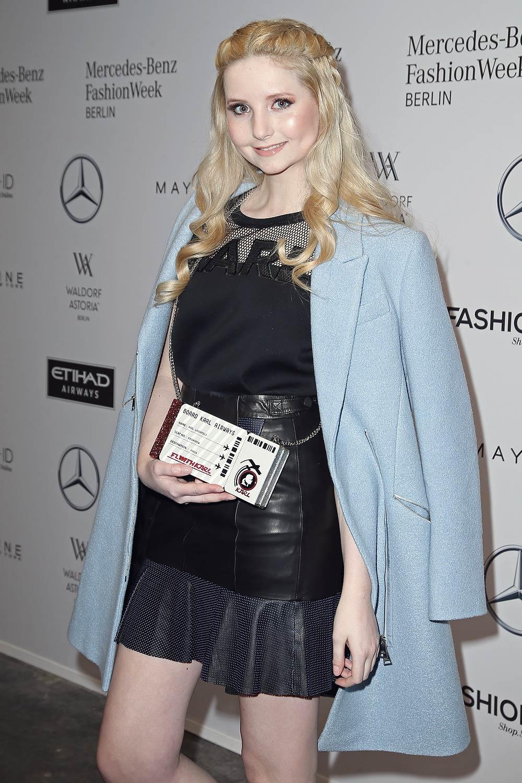 Anna Hiltrop attends the Leonie Mergen show