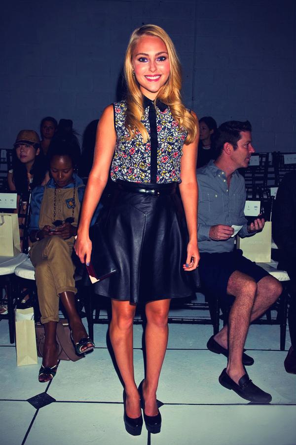 AnnaSophia Robb at Mercedes-Benz Fashion Week