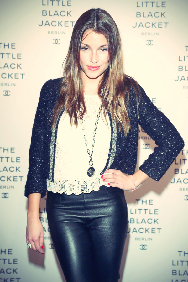 Anna Julia Kapfelsperger attends CHANEL The Little Black Jacket