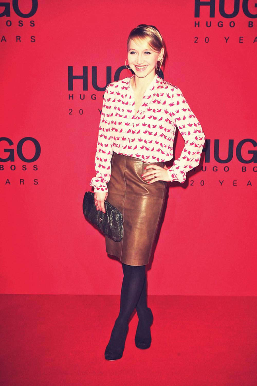Anna Maria Muhe attends Mercedes-Benz Fashion Week Berlin 2013