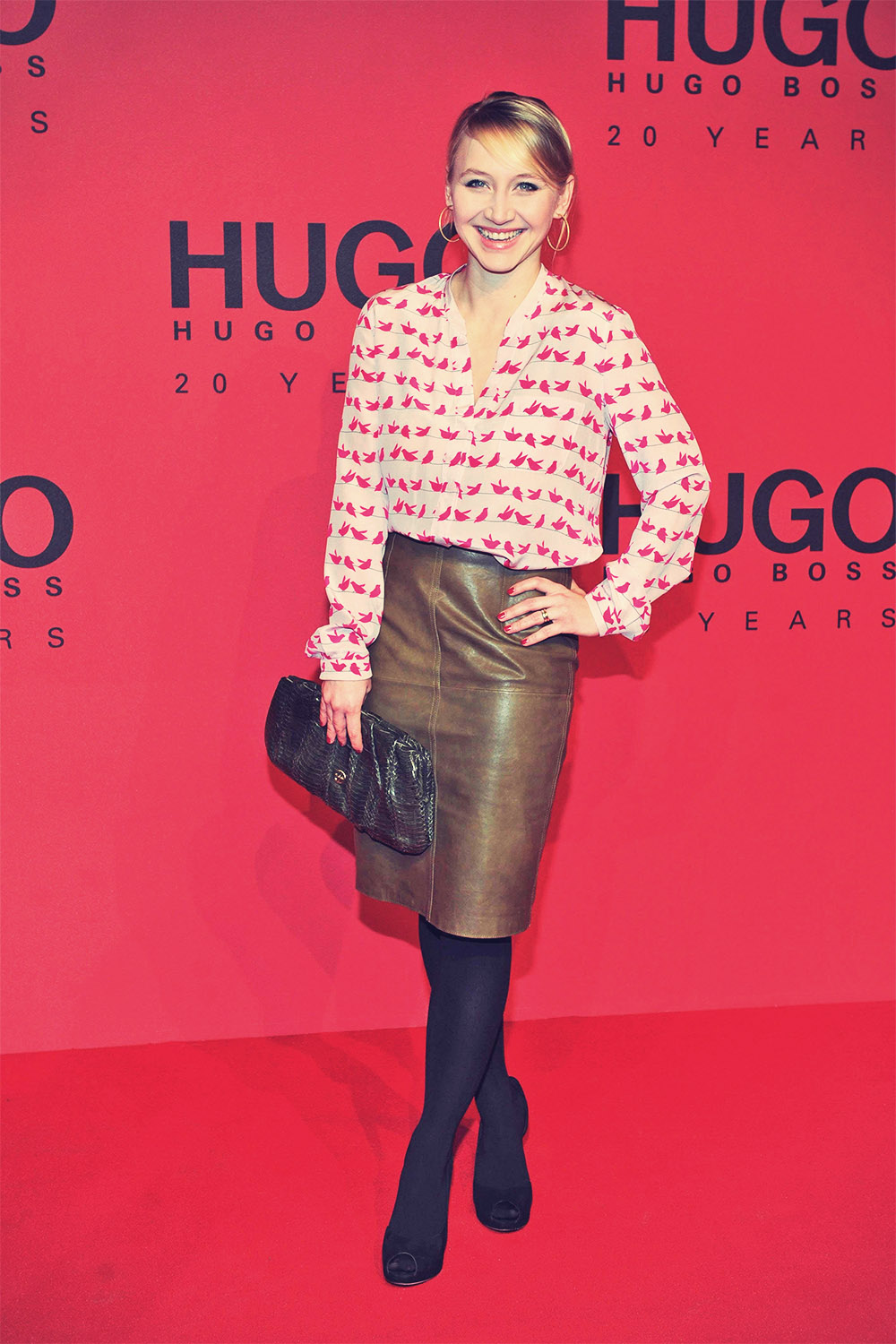 Anna Maria Mühe attends Mercedes-Benz Fashion Week
