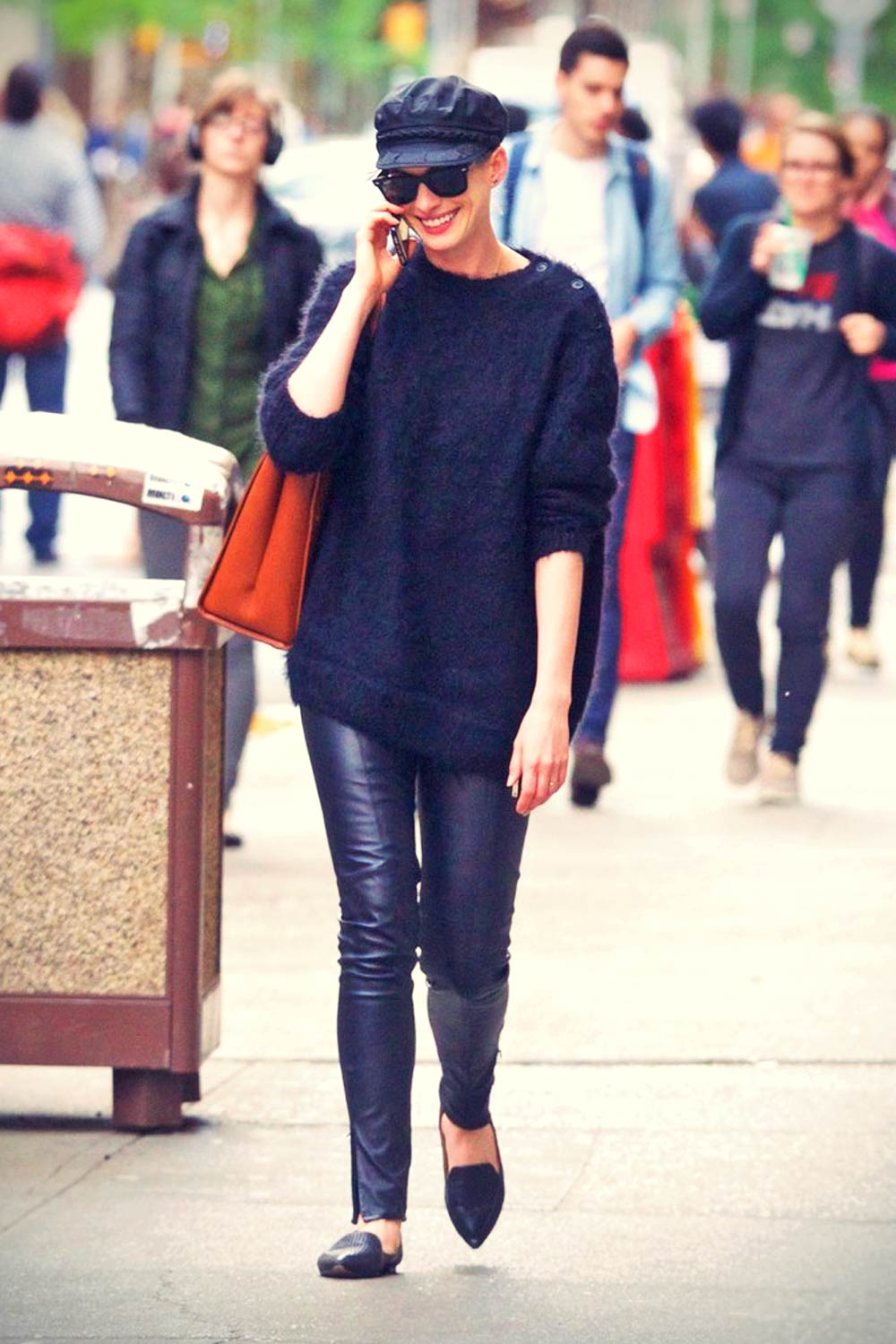 Anne Hathaway in New York City