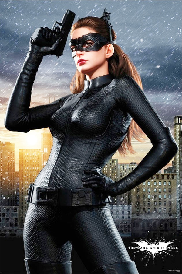 Anne Hathaway Dark Knight Rises promotional pics