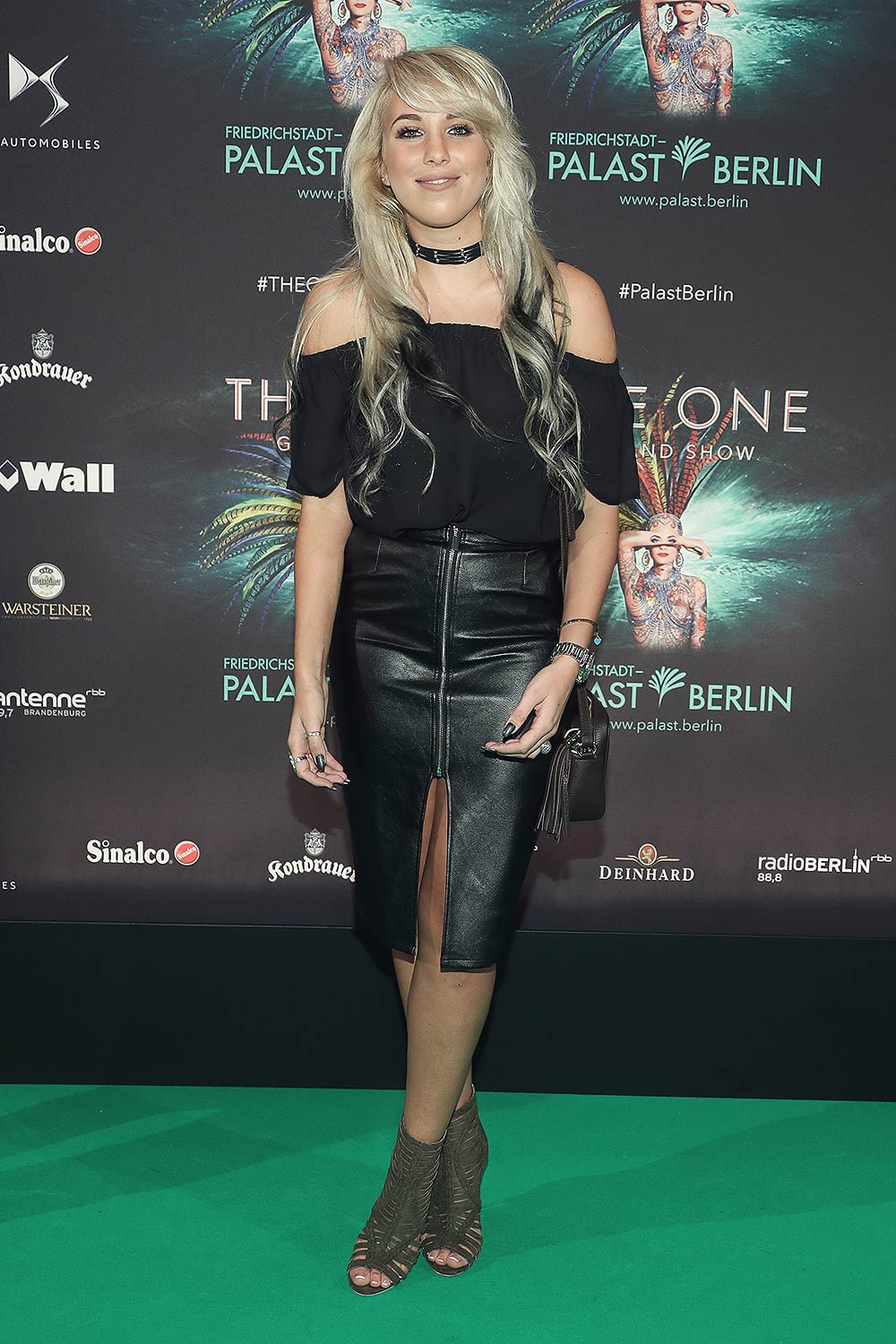 Annemarie Eilfeld arrives at the THE ONE Grand Show premiere