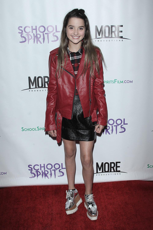 Annie Leblanc At School Spirits Premiere Leather Celebrities