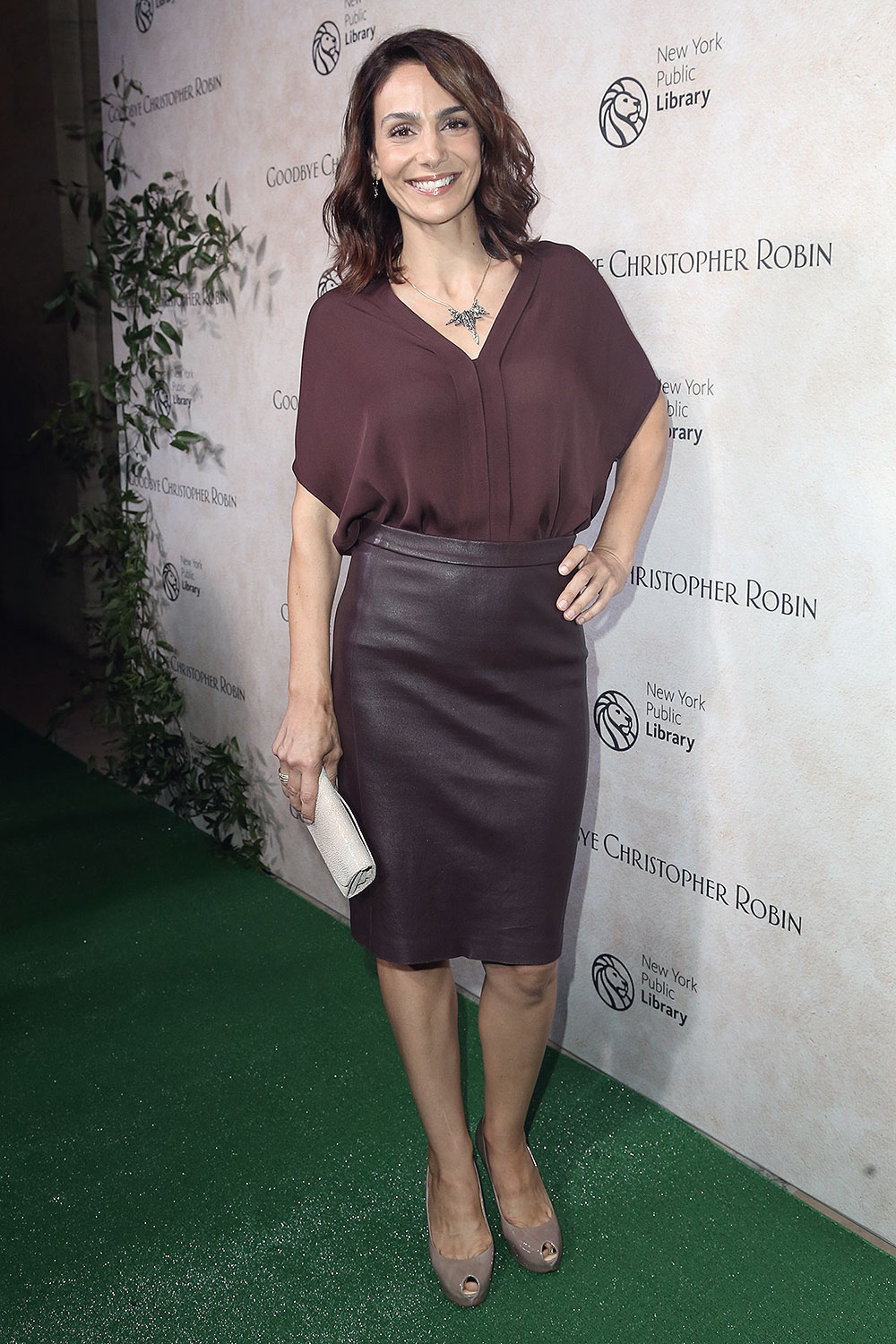 Annie Parisse attends Good Bye Christopher Robin New York Special Screening