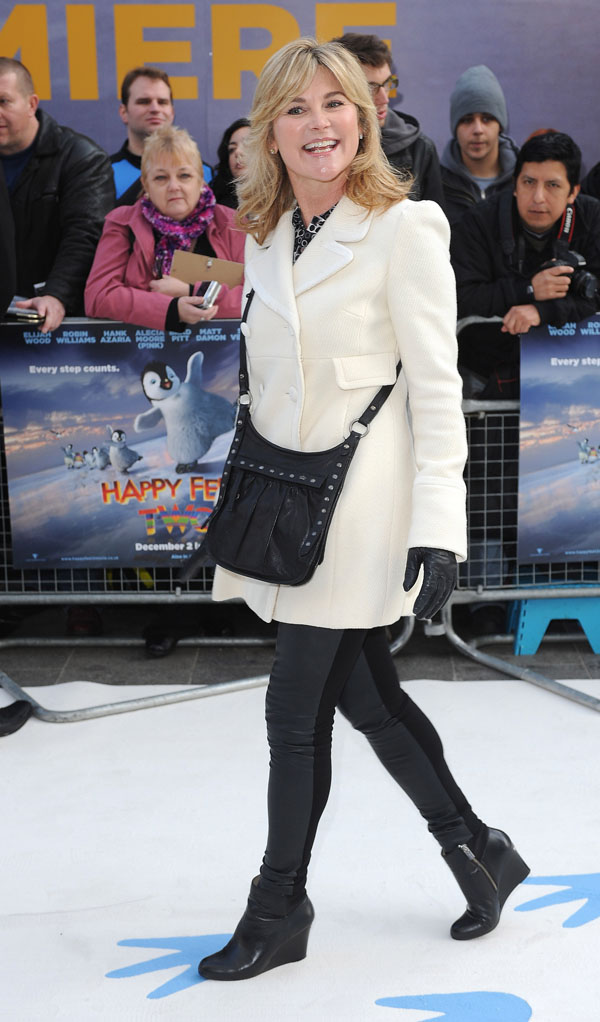 Anthea Turner Happy Feet Two premiere