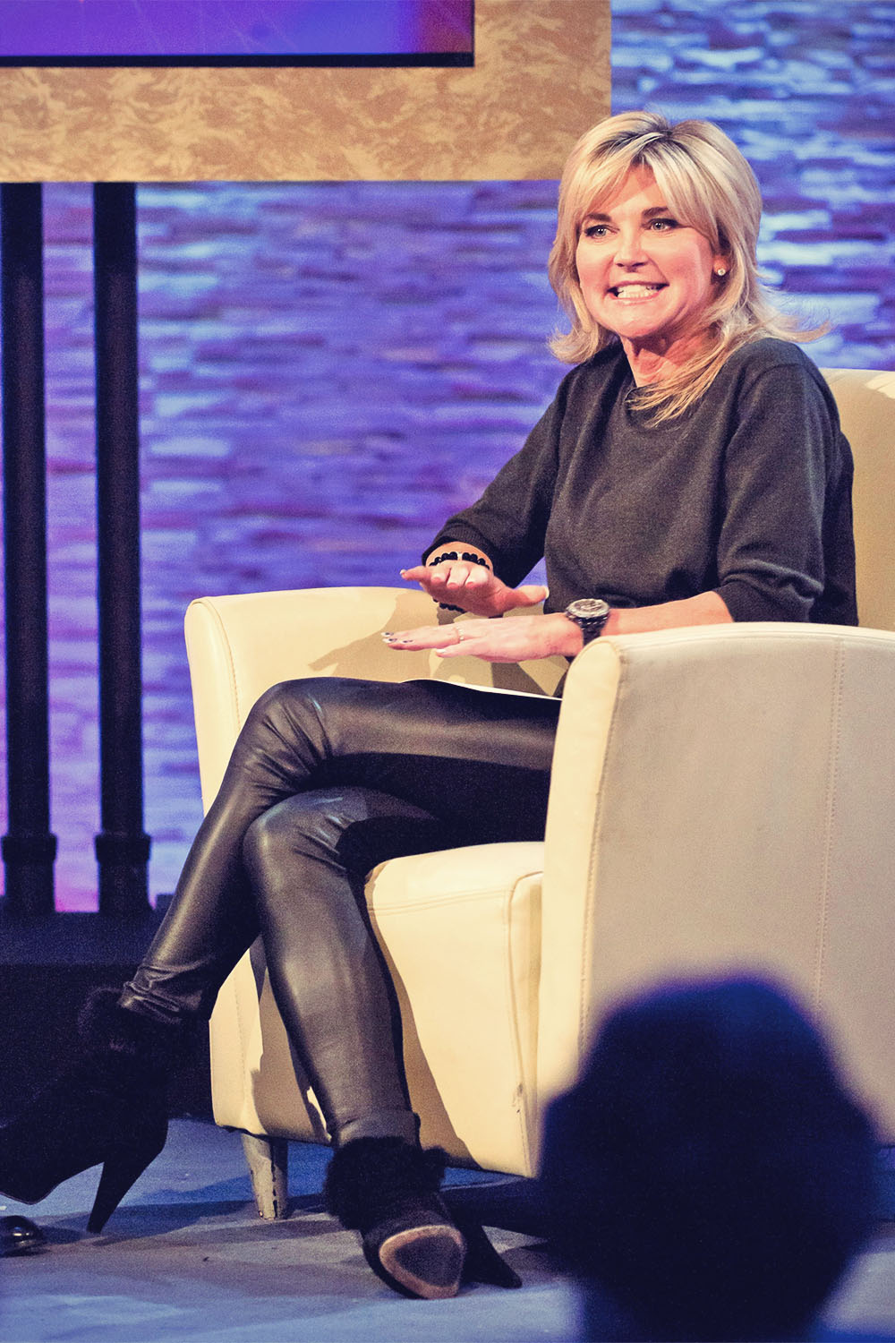 Anthea Turner at The Alan Titchmarsh Show