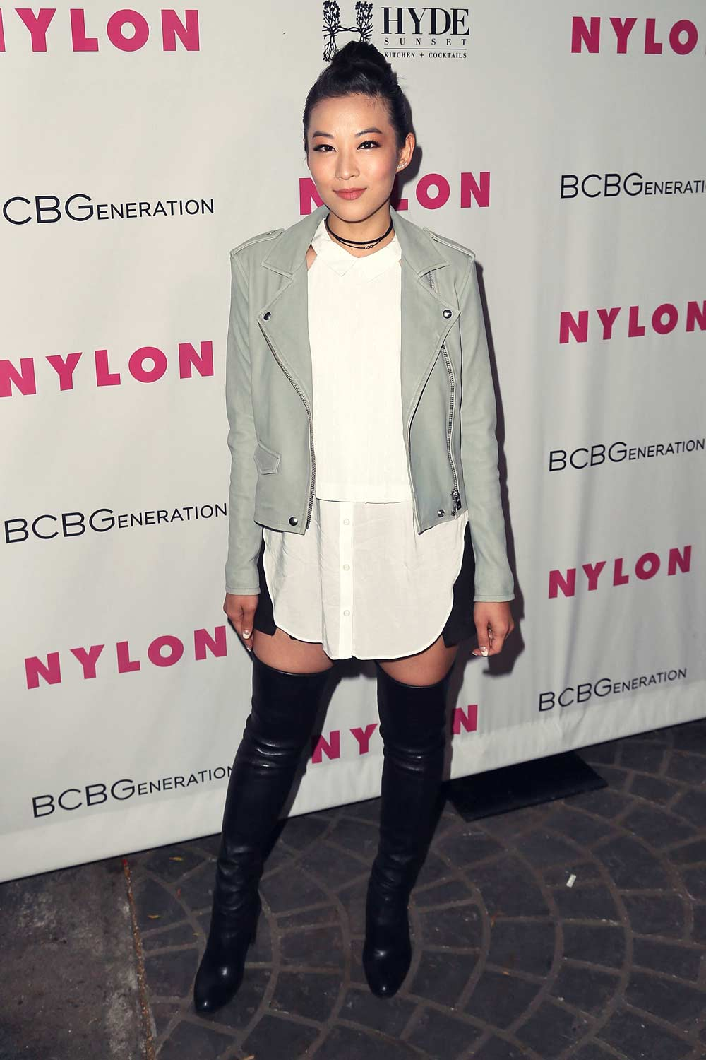 Arden Cho attends NYLON And BCBGeneration's Annual Young Hollywood