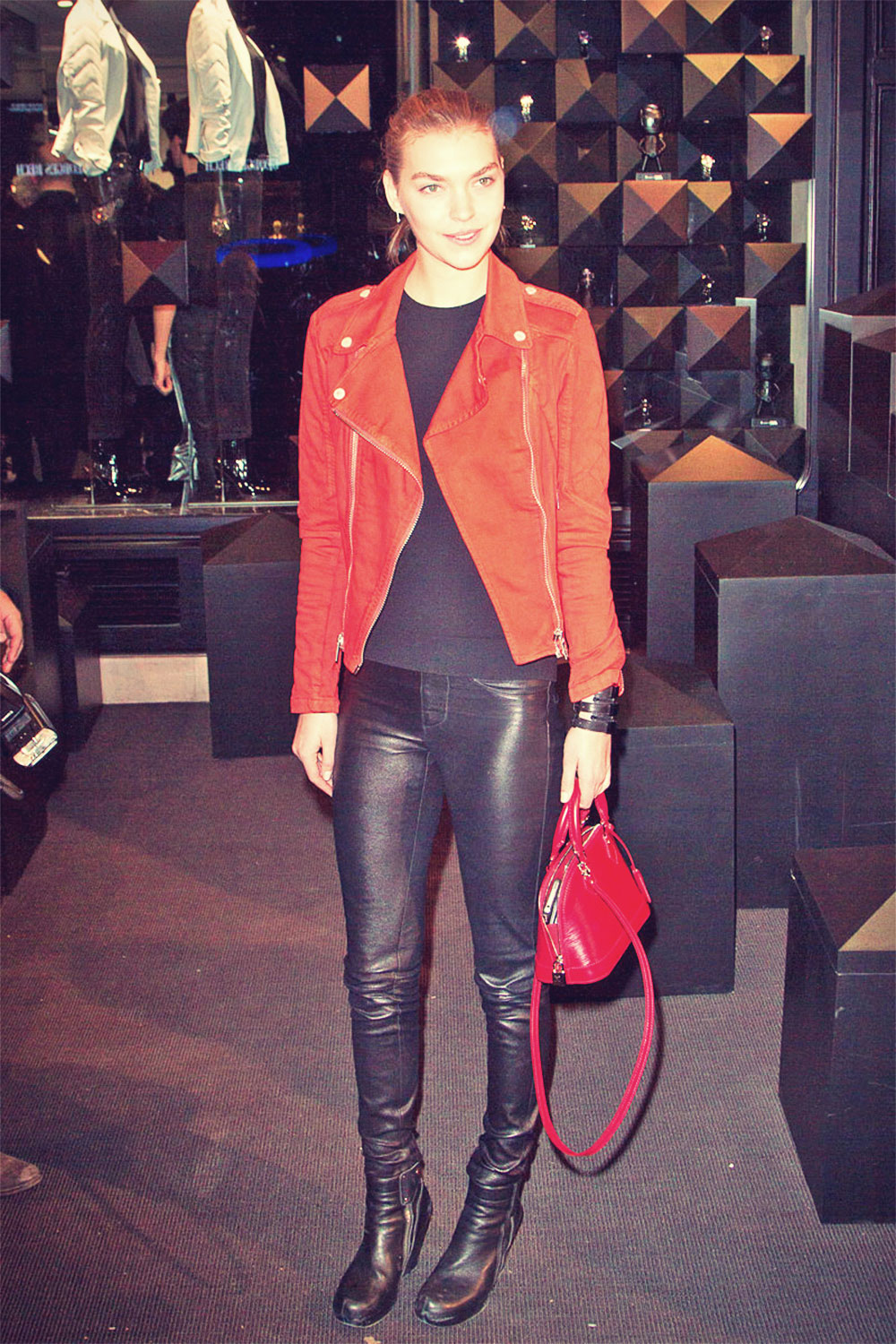 Arizona Muse attending the Karl Lagerfeld's Concept Store Opening