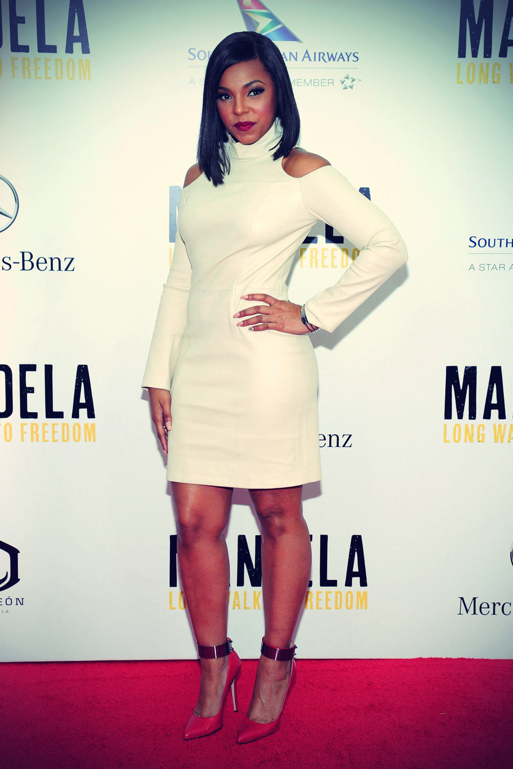 Ashanti attends the premiere of Mandela Long Walk To Freedom