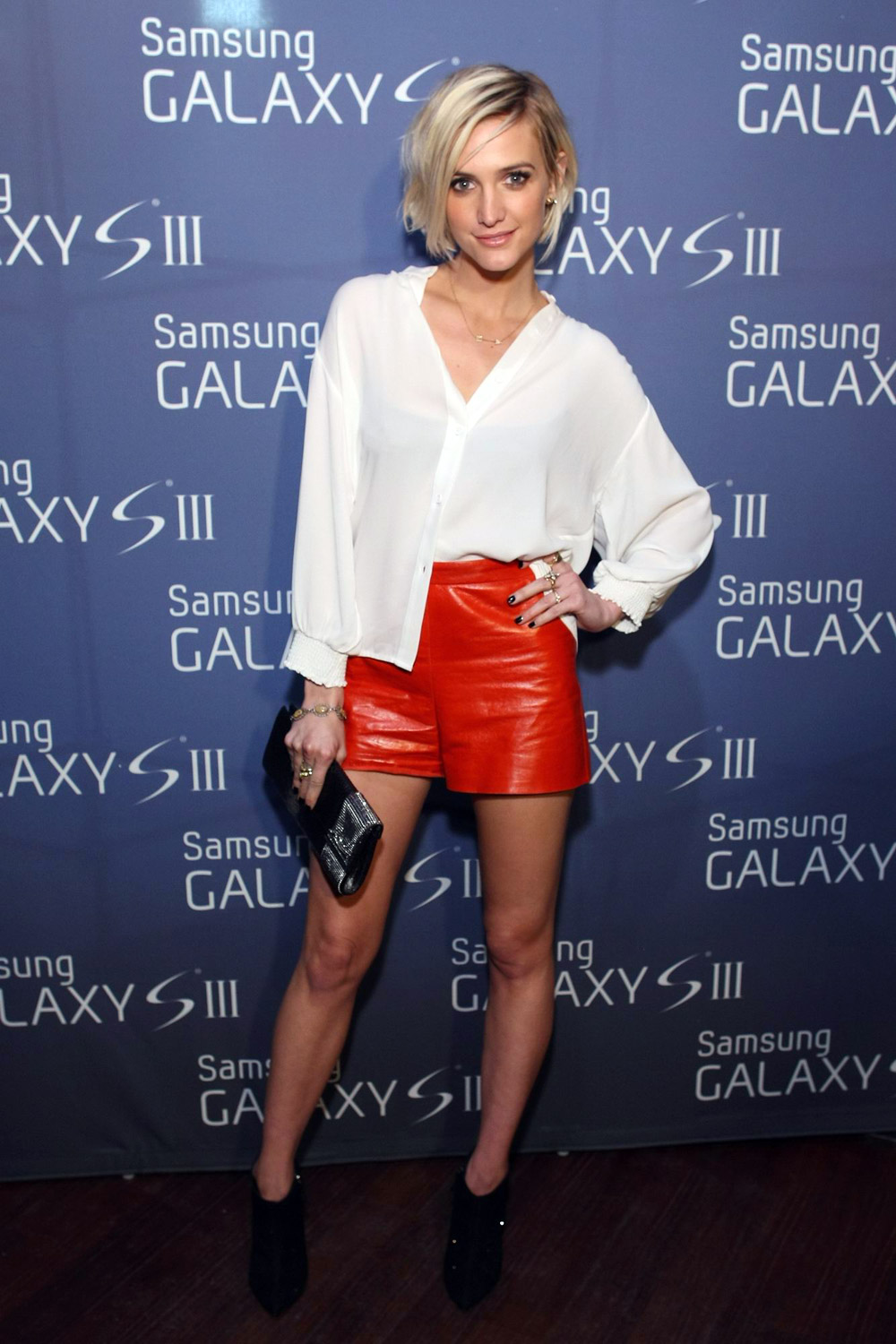 Ashlee Simpson at Samsung Galaxy S III event