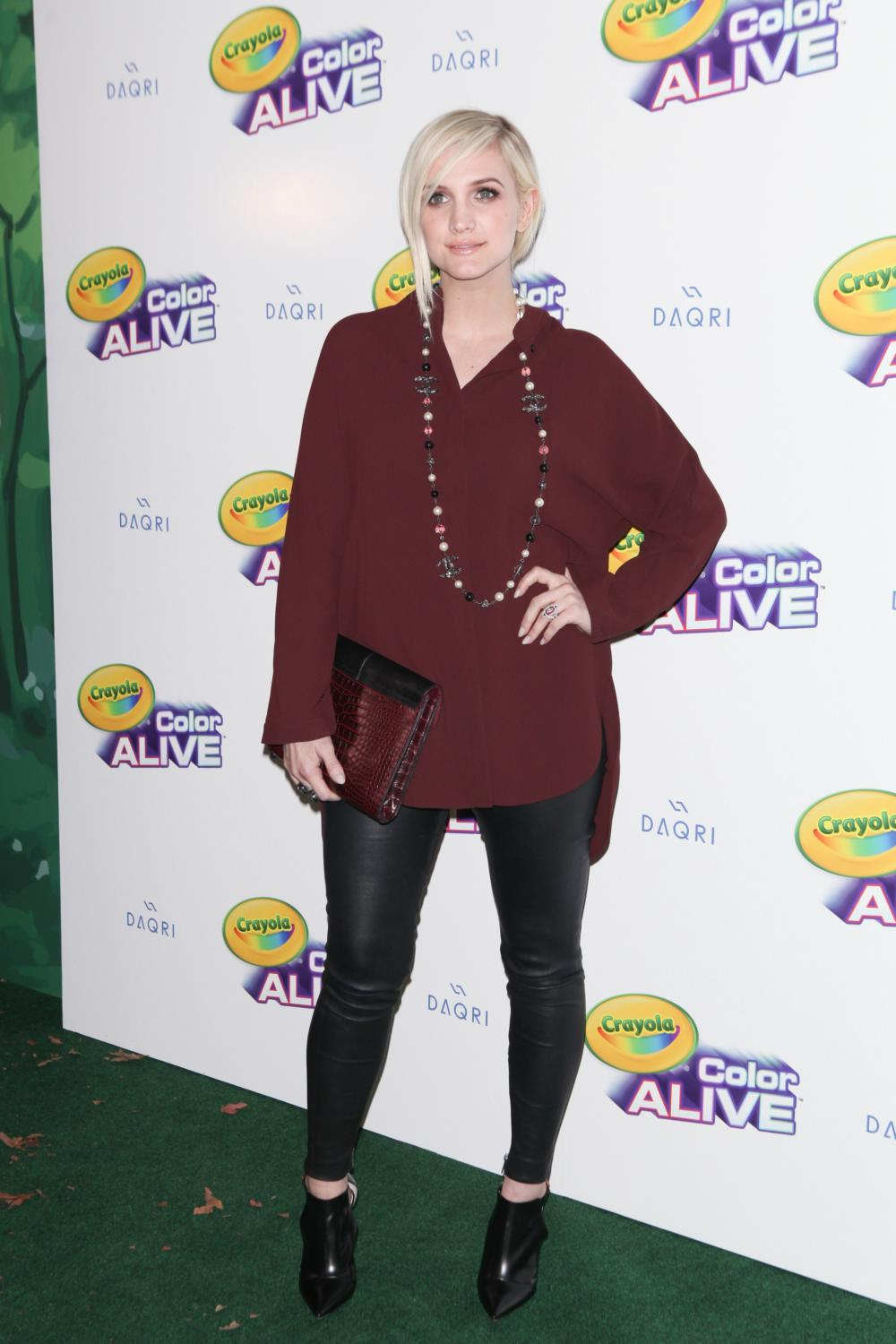 Ashlee Simpson attends Crayola Color Alive Launch