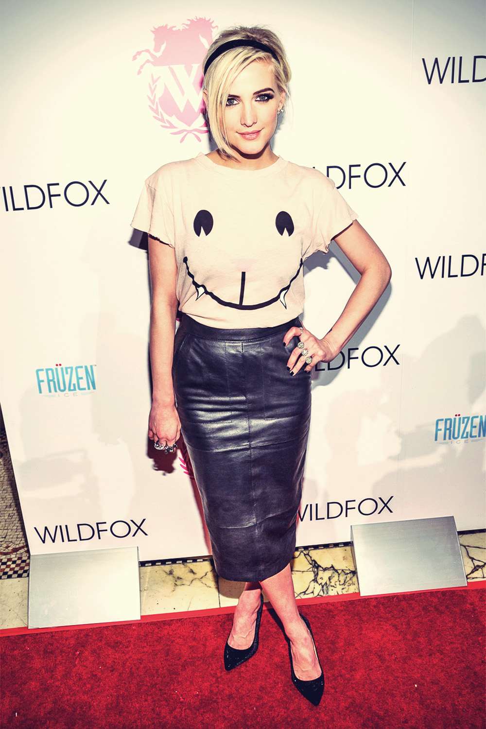 Ashlee Simpson attends the Wildfox Fall 2013 Collection