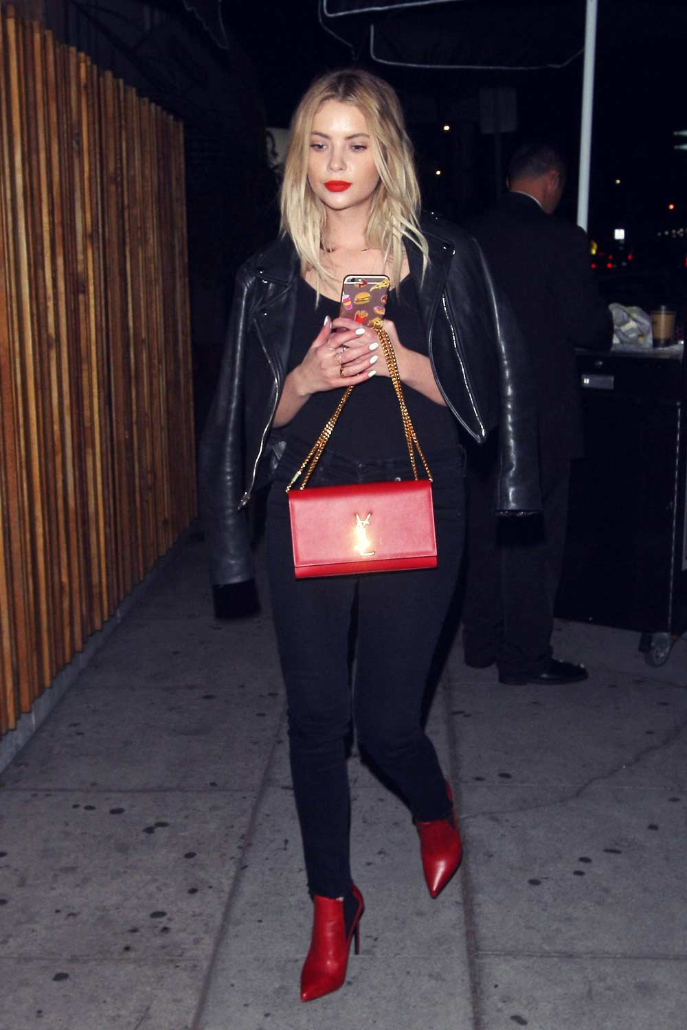Ashley Benson leaving Nice Guy Club