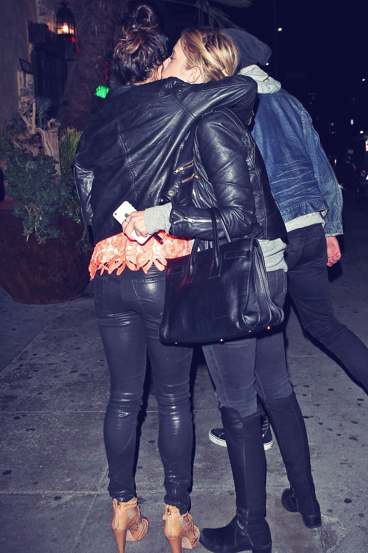 Ashley Benson & Vanessa Hudgens at El Compadre Restaurant