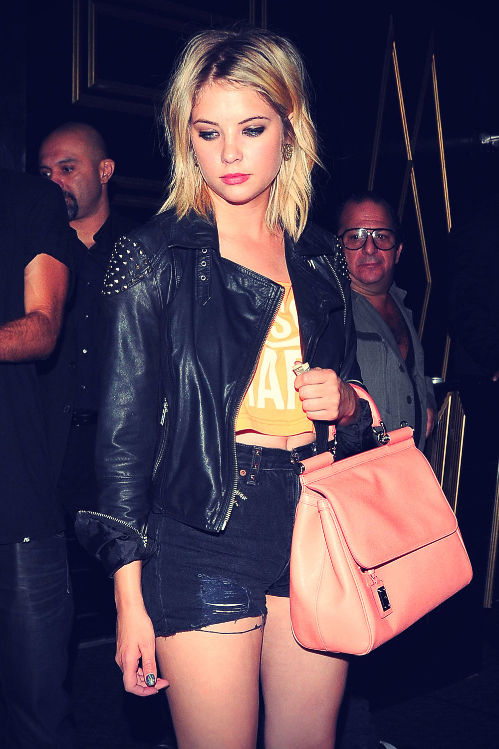 Ashley Benson outside Bootsy Bellows