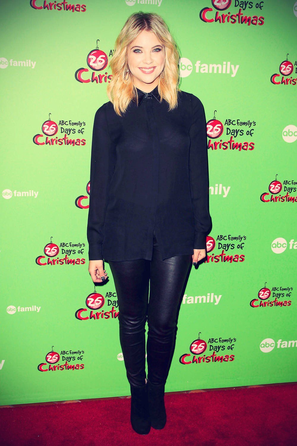 Ashley Benson attends ABC Family's 25 Days Of Christmas